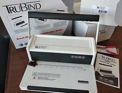 TruBind TB-S20 Spiral Coil Binding Machine - 20 page punch - very gently used!