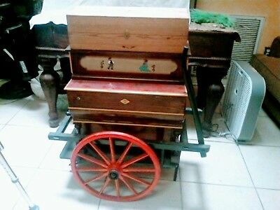 Antique Piano on Cart
