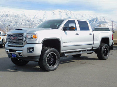 2017 GMC Sierra 2500HD DENALI LIFTED GMC CREW CAB DENALI 4X4 DURAMAX DIESEL CUSTOM WHEELS TIRES LEATHER NAV