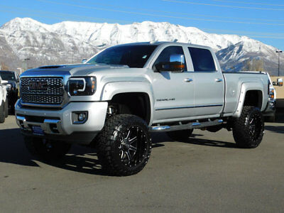 2018 GMC Sierra 2500HD DENALI LIFTED GMC CREW CAB DENALI 4X4 DURAMAX DIESEL CUSTOM WHEELS TIRES LEATHER NAV