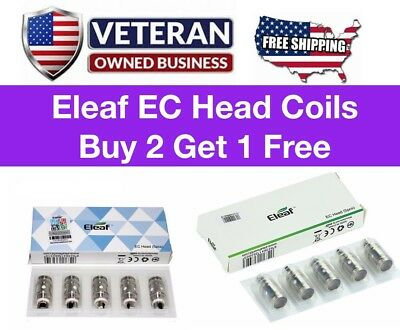 New! *Eleaf² EC Head Coils Replacement Coil for iJust2 Melo 2/3 Lemo 3 | 0.3/0.5