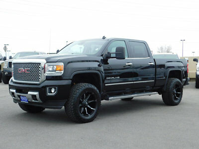 2015 GMC Sierra 3500 DENALI LIFTED GMC CREW CAB DENALI 4X4 DURAMAX DIESEL CUSTOM WHEELS TIRES LEATHER NAV