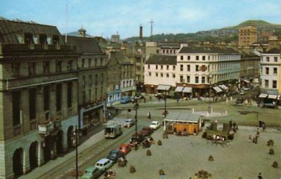 Dundee  City Square 1960s period motor cars