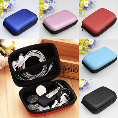Portable Hard Case Pouch Storage Bag For Earphone Headphone Earbuds Cable MP3