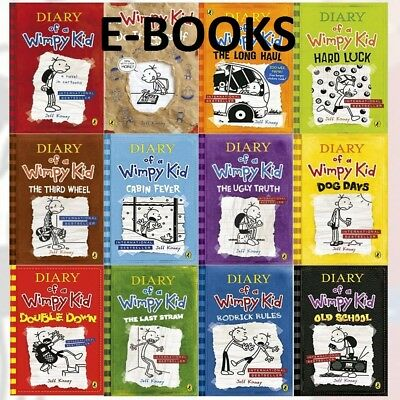 Diary of a Wimpy Kid 12 eBooks Complete Collection Set ( PDF+EPUB+MOBI )