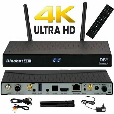 Dinobot 4K+ UHD  E2 Linux Android Receiver Dual Wifi S2/T2C Combo 4K Netflix