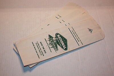 Vintage Lot 4 National Food Stores Coffee Or Frozen Food Bags