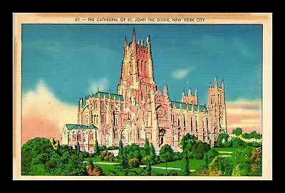 Dr Jim Stamps Us Cathedral Of St John The Divine New York City Linen Postcard