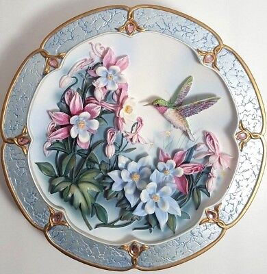 Two Morning Jewels Lena Liu Vintage Amazing  Plates Collectible Porcelain Gift