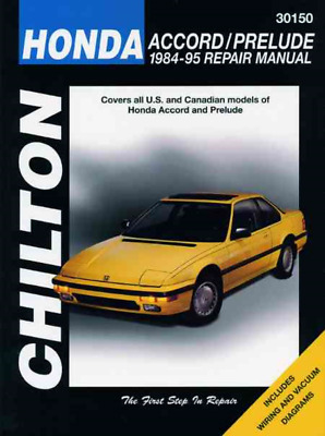 Chilton Workshop Manual Honda Accord Honda Prelude 1984-1995 New Service Repair