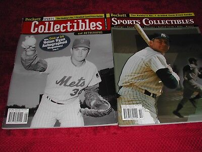 Two Beckett Collector Price Guides Issue #100 Aug 1999-Ryan & Oct 1999 Mantle NM