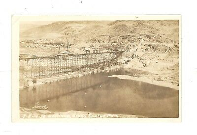 Vintage Rppc Of Grand Coulee Dam Being Built