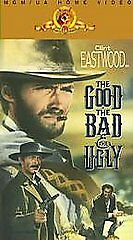 The Good The Bad And The Ugly Vhs Clint Eastwood Lee Van Cleef Still Sealed Oop