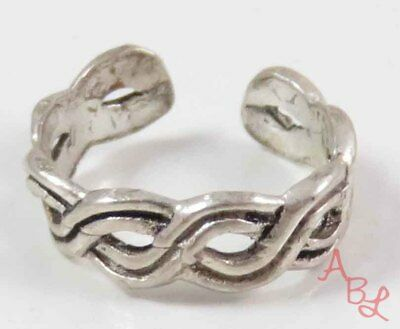 Sterling Silver Vintage 925 Small Toe Ring Sz 1/2 (0.7g) - 747612