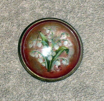 Vintage Antique Horse Bridle Rosette / Glass Flower / Lily Of The Valley