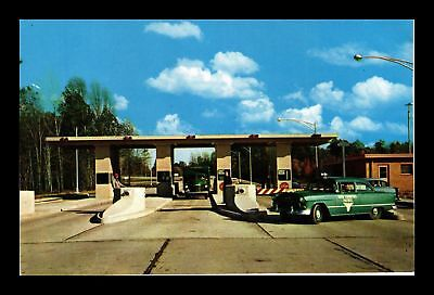 Dr Jim Stamps Us Toll Plaza Ohio Ultra Modern Turnpike Chrome View Postcard