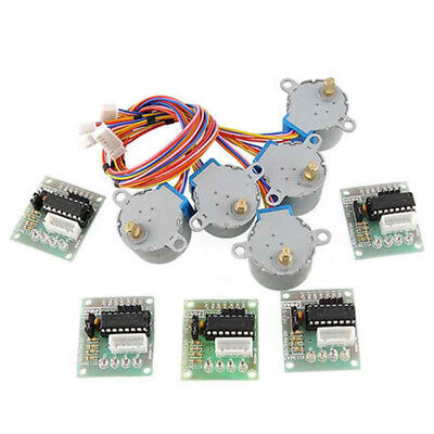 5PCs New 5V Stepper Motor 28BYJ-48 With Drive Test Board ULN2003 5 Line 4 Phase
