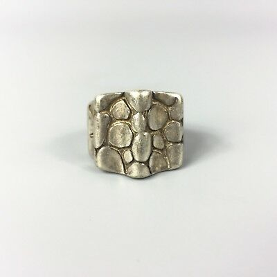 Antique Chinese Rare Collectible Old Tibet Silver Handwork stone No.9 male Ring