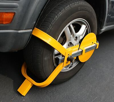 """Wheel Lock Clamp Boot Tire Claw Trailer Car Truck Anti-Theft Towing Boot 13""""~15"""""""