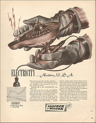 1950's Vintage ad for Babcock & Wilcox Electricity`art     121618