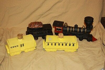 4 Piece 1969 Commemorative Edition Train Decanter Set For Mccormick By Mccoy
