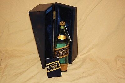 Johnnie Walker Blue Label Bottle (empty), Satin Lined Box