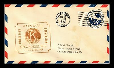 Dr Jim Stamps Us Milwaukee Kiwanis Convention Air Mail Event Cover 1929