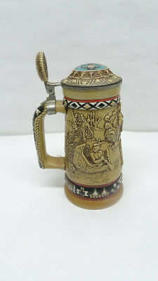 Avon Indians of the American Frontier Stein Handcrafted in Brazil 8/L51099E