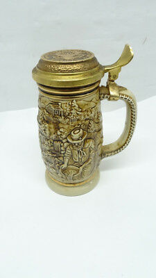 """1987 Avon """"the Gold Rush"""" Beer Stein Handcrafted In Brazil - 8/l51099F"""
