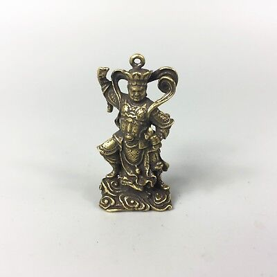 chinese Rare Old Brass Handwork Buddha Collectible Antique amulet Pendant