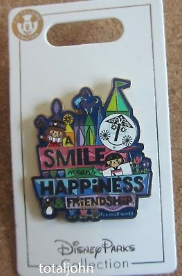 Disney its a Small world A Smile Means Happiness Friendship Pin