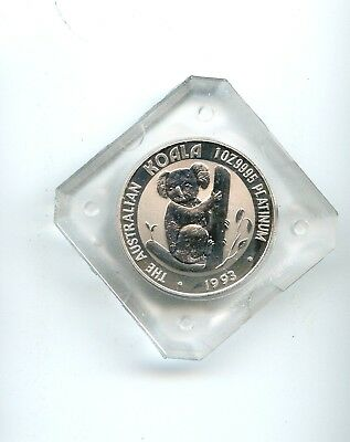 1993 Australia Platinum $100 KOALA BEAR!! ONE OUNCE .9995 PLATINUM READ!!
