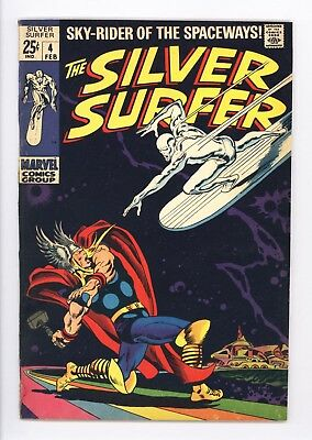 Silver Surfer #4 Vol 1 Very High Grade Classic Thor vs Surfer Cover