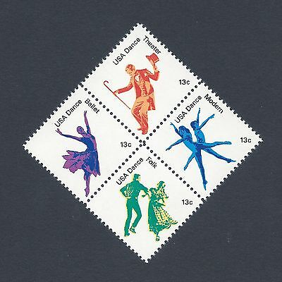 Celebrating American Theater Dance - 41 Year Old Mint Set of 4 Stamps!