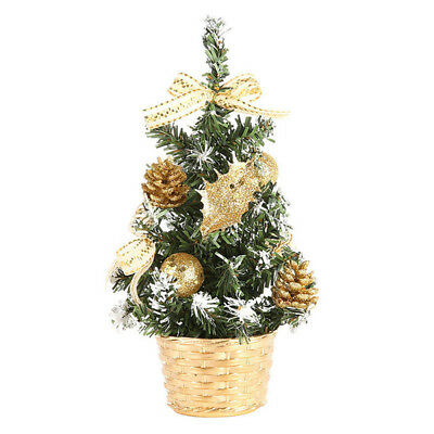 Artificial Tabletop Mini Christmas Tree Decorations Festival Miniature Tree 20cm