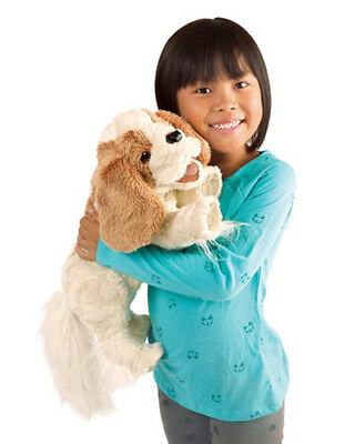 # FOLKMANIS Hand PUPPET Soft Plush Toy CAVALIER KING CHARLES SPANIEL Stuffed Dog