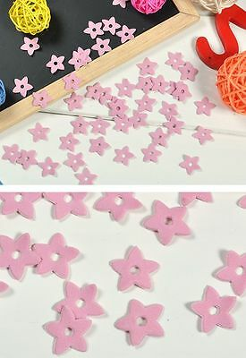 WOW 50 New Pink Padded Flower Spandex Trim Appliques Craft