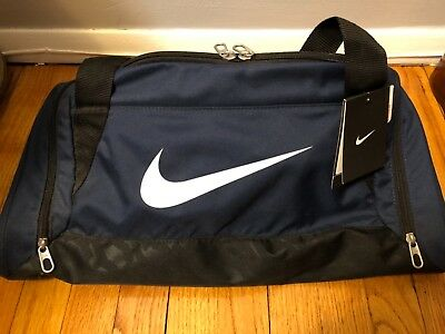 df28749ee0 Nike Brasilia 6 Small Duffel Gym Sport Bag BA4831-401 NAVY BLUE Black NEW