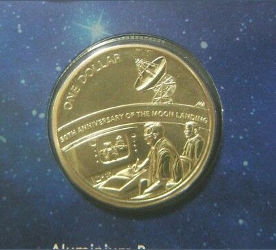 2019 $1Dollar Coin-50th Anniversary of Moon Landing, taken from Moon Landing Set