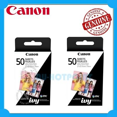 "2 x Canon Zink Mini Photo Printer Paper 2""x3"" 50 Sheets Bundle Pack [MPPP50]"