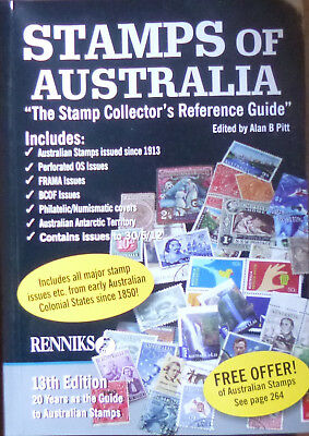 RENNIKS STAMPS of AUSTRALIA STAMP CATALOGUE GUIDE 13th Edition in COLOUR