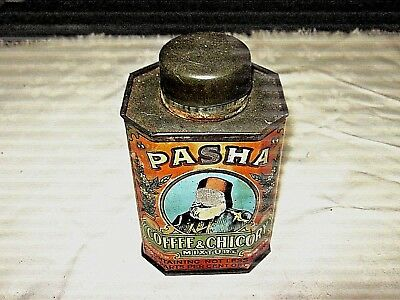 A Vintage Parsons Brothers & Co Australia 1 lb Pasha Coffee & Chicory Tin