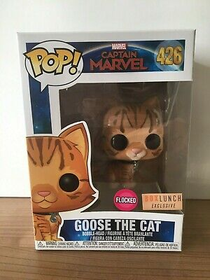 Funko Pop Captain Marvel - Goose The Cat #426 (Flocked Lunch Box Exclusive)