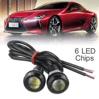 2pcs 12V 18mm 15W 6 LED Eagle Eye Car Fog DRL Daytime Reversing Backup Light