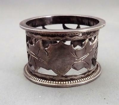 Vintage Australian Sterling Silver Pierced And Engraved Napkin Ring Stokes Melb.