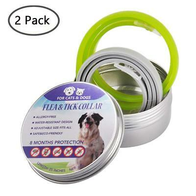 Seresto 2-Pack Flea and Tick Collar for Dogs Waterproof 8Months Pet Nat usa