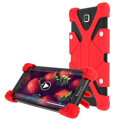 Coque Smartphone 5.3 à 6 pouces Universel Bumper Silicone Gel Rouge Mode Support