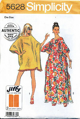 Simplicity Sewing Pattern 5628 Ladies 8-40 Retro Easy Jiffy Caftans - Plus Sizes