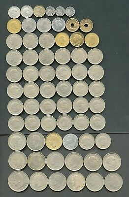 Worldwide Lot Of 66   Foreign Circulated Coins You Do The Grading  Have Fun