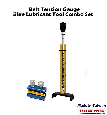 For Motorcycle Scooter Belt Driver Bikes Belt Tension Gauge+Blue Lubricant Tool